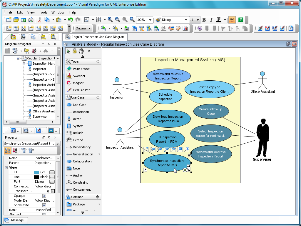 Visual Paradigm for UML Standard Edition full screenshot