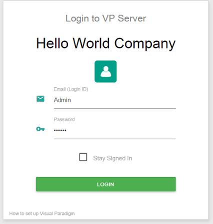 Login VP Server