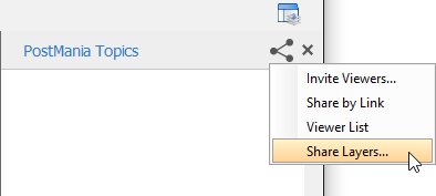 To select the layer to share/not share