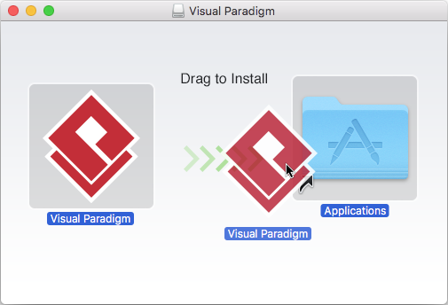 To install Visual Paradigm in Applications folder