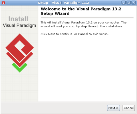 Visual Paradigm welcome screen