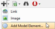 Click Add Model Element button