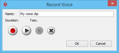 Name voice clip