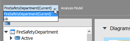 To browse referenced project's model elements