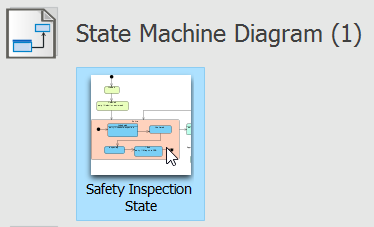 Opening a State Machine Diagram
