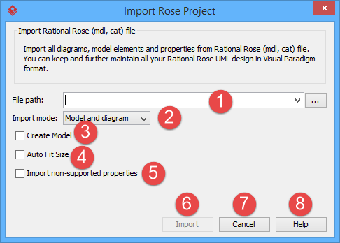 specifying rose model path - Visual Paradigm Viewer