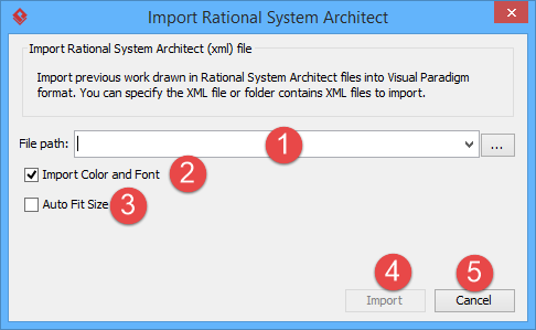 Specifying Rational System Architect path