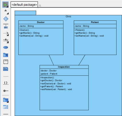 A class diagram imported from NetBeans UML Project