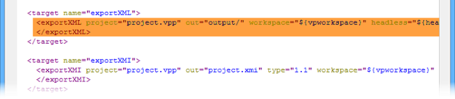 Modify task(s) specific properties in build.xml