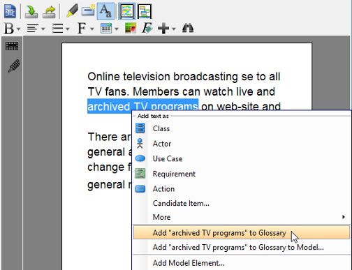 "Add ""archived TV programs"" to Glossary"