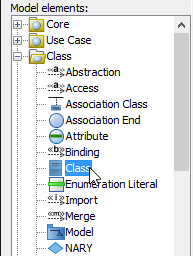 Select class to edit its stereotypes