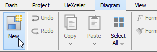 Create diagram through toolbar