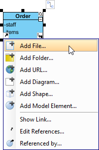 Select Add File... from the pop-up menu