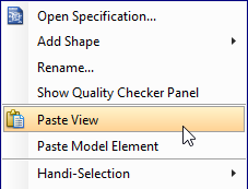 Paste the selected shape