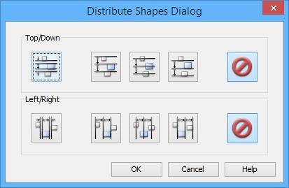 Distribute Shapes Dialog