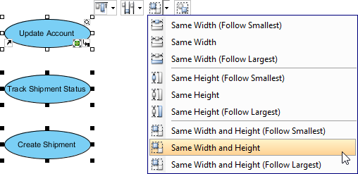 Resize through grouping resources