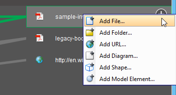 Adding a file reference