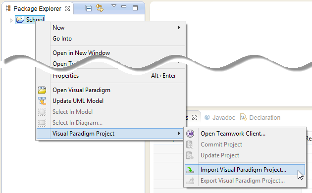 Import Visual Paradigm project