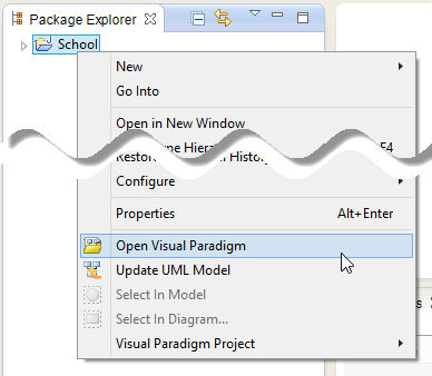 Open Visual Paradigm from Java project
