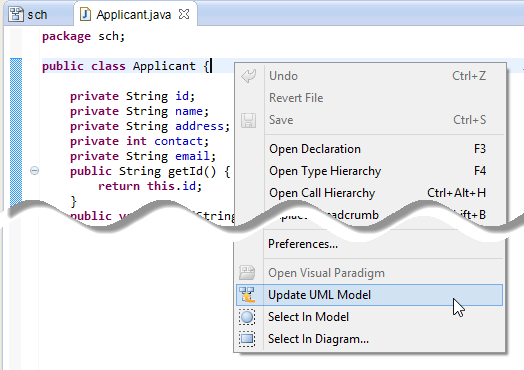 How To Reverse Engineer Uml Model In Eclipse