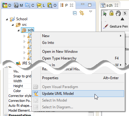 How to reverse engineer UML model in Eclipse - Visual Paradigm