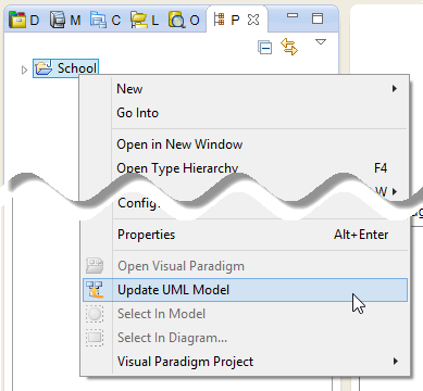 Update the whole UML model from a Java project