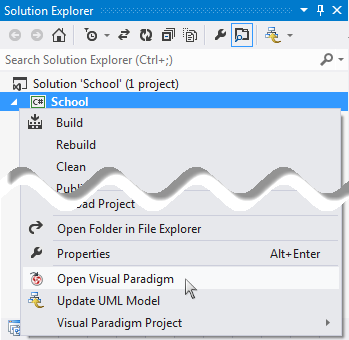 Open Visual Paradigm from Visual Studio project
