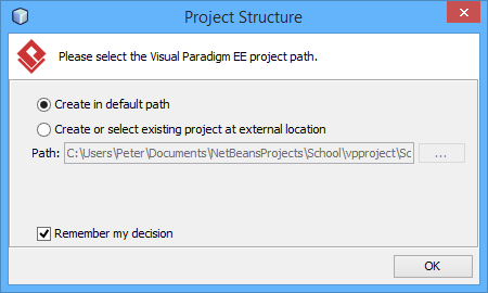 Create a new UML project