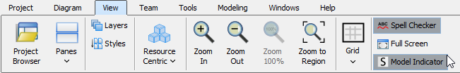 To show Model Indicator