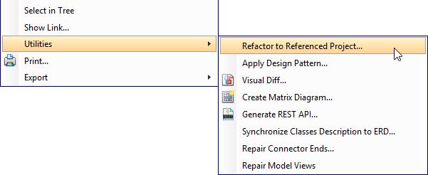 Refactor a class diagram
