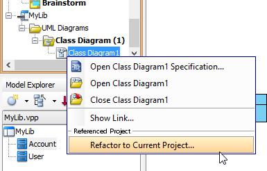 Refactor class diagram