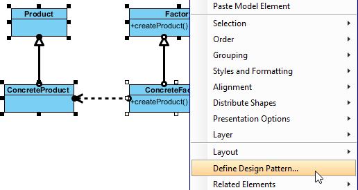 Defining design pattern
