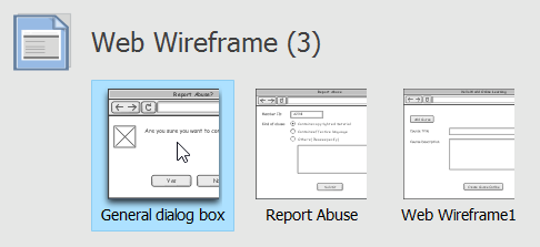 Select a wireframe