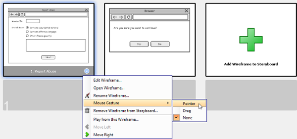 Add a pointer to wireframe