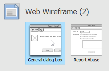 Selecting a wireframe