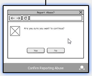 Selecting a wireframe state