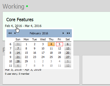 Editing the start date of a sprint