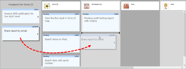 Assigning a user story to a member