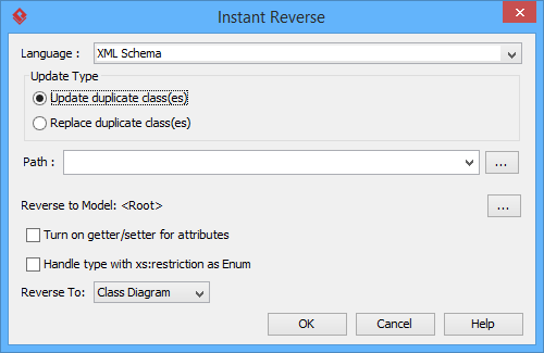 the instant reverse window - Uml Reverse Engineering