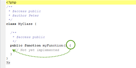 Customization of operation in PHP class