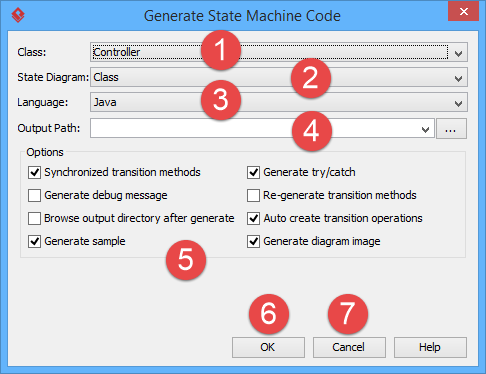 How to Generate State Machine Code from UML?