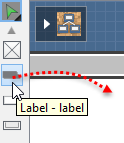 Create a Label with drag-and-drop