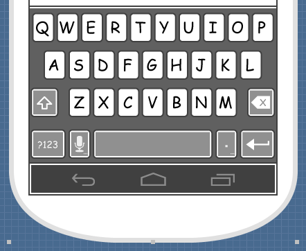 Keyboard shown
