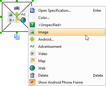 To embed image into image component
