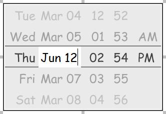 Editing the date in a date picker