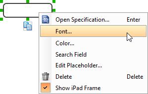 Set font
