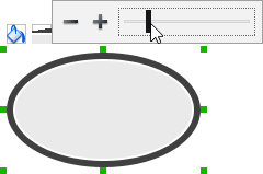 Adjusting the thickness of border