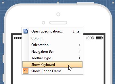 Show keyboard