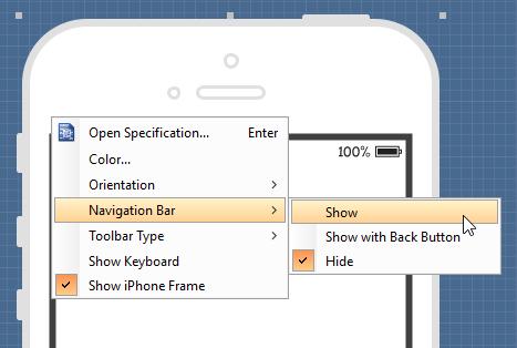 Show navigation bar