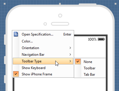Show toolbar bar